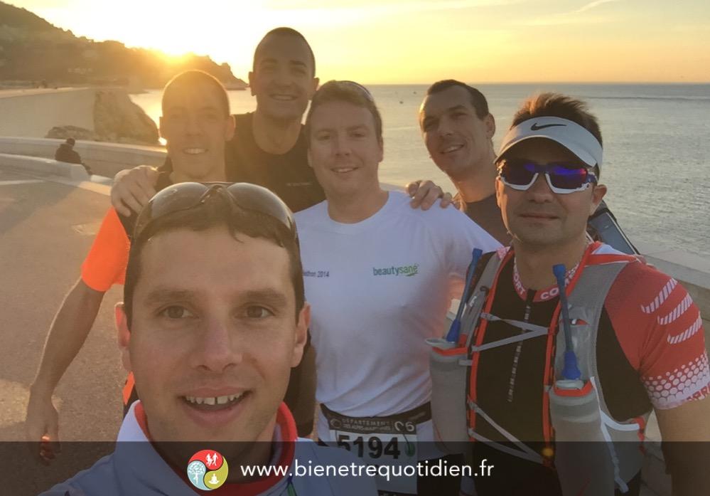 Lever de soleil à Nice avant le marathon