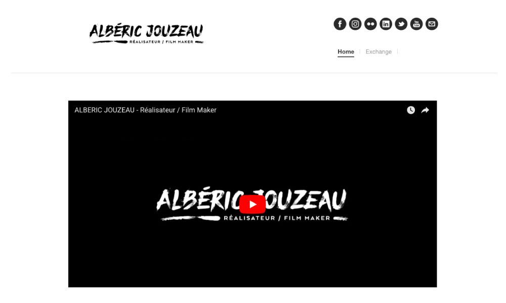 Site carte de visite Albéric Jouzeau par Arnaud DARCHU