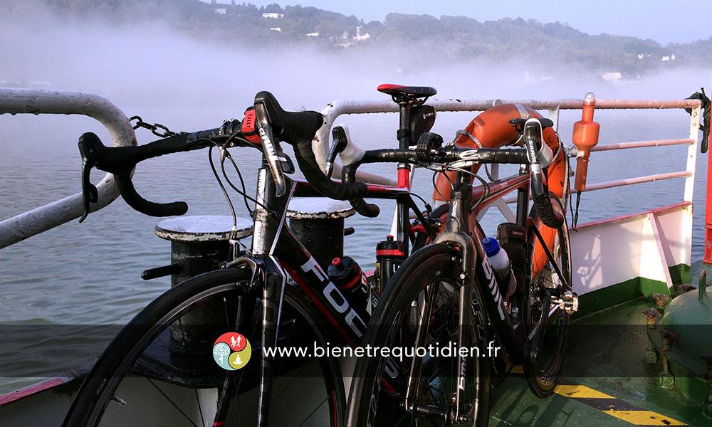 Photo lors de la ballade en vélo avec Victorien Lanon