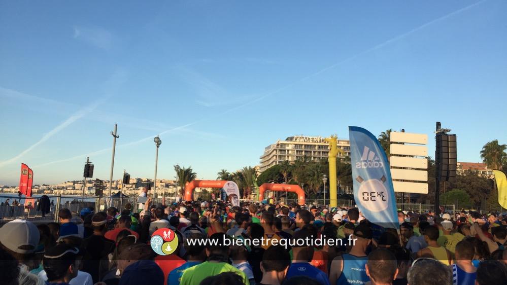 Sas de départ 3h30 marathon de Nice