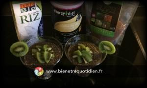 Photo recette bien être pudding aux graines de chia energy diet