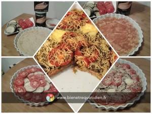 photo de la recette équilibré spéciale fête tarte tomate aubergine