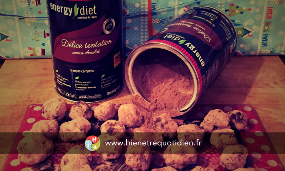 photo des truffes au chocolat Energy diet