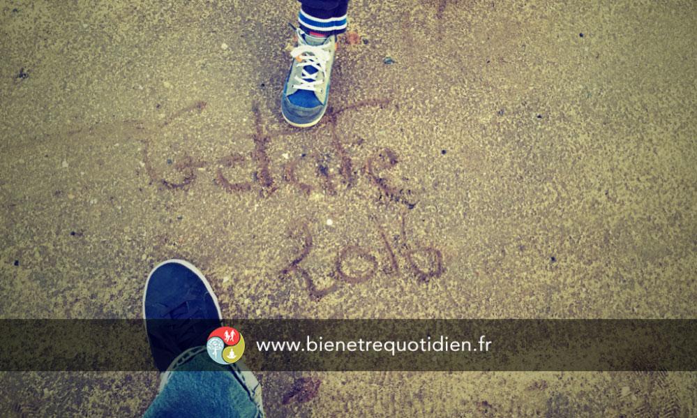 image sur le sol de Getafe pour le semi marathon