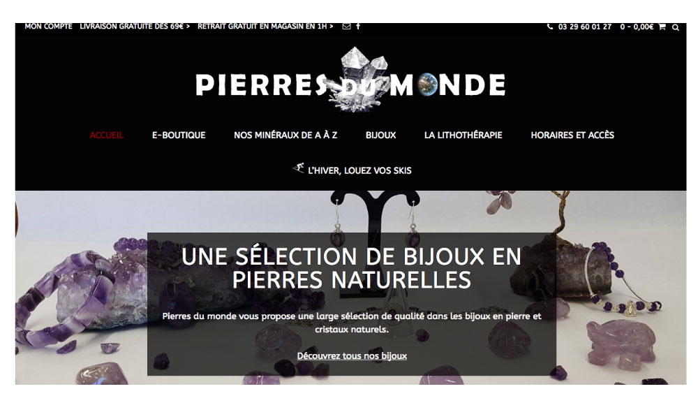 Migration du site internet ecommerce Pierres du monde